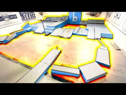 THE FLOOR IS LAVA! Skateboarding Obstacle Course!