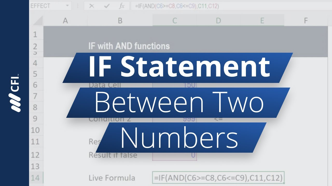 IF Statement Between Two Numbers - How to Calculate Step by Step