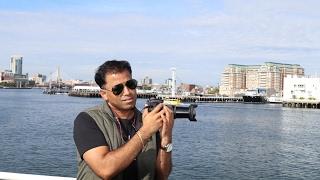 Boston Harbor-Boston, a major shipping facility in the United States.