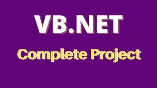 VB.Net Complete Project For Beginners With Source Code