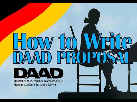 How to Write a Proposal for DAAD Scholarships - DAAD Jakarta - 14 April 2015