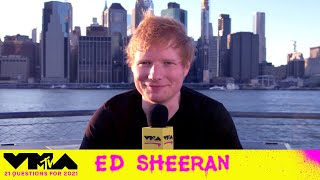 Ed Sheeran Answers 21 Questions for the 2021 Video Music Awards