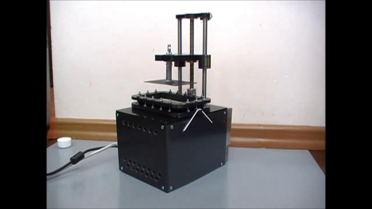 UV LCD SLA 3D Printer working