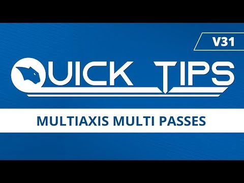 Multiaxis Multi Passes [Part File Included] - BobCAD-CAM Quick Tips: V31
