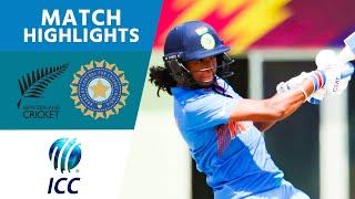 New Zealand v India - ICC Women's World T20 2018 highlights