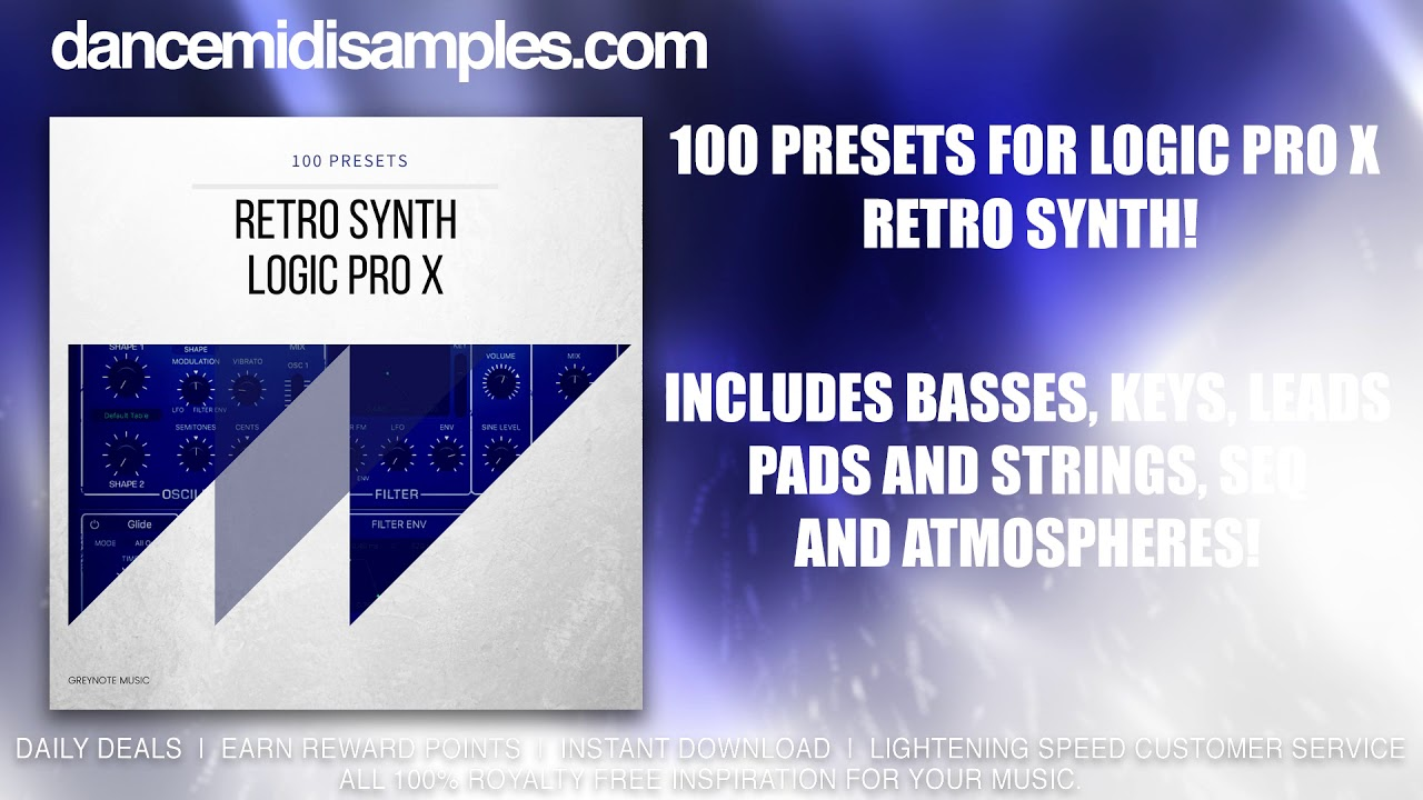Logic X Retro Synth Presets