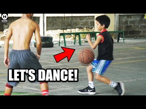 Kid dancing in Basketball Making it Eezy !
