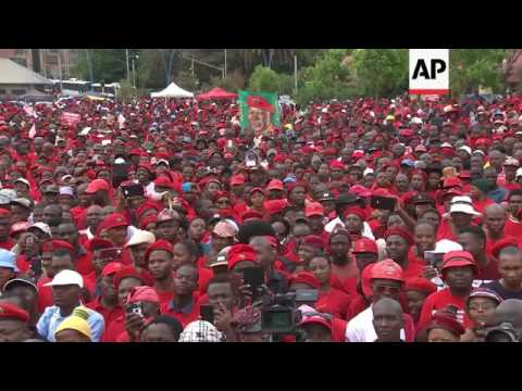 EFF party supporters rally in Johannesburg