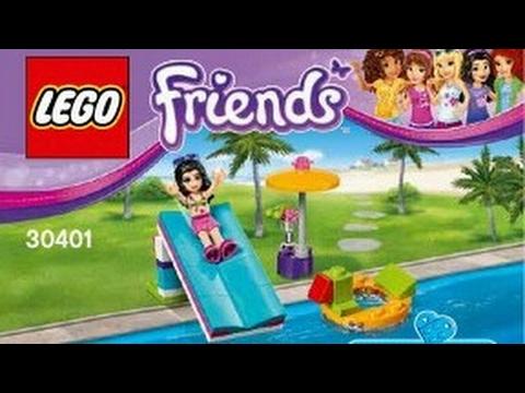 2017 Lego Friends Pool Foam Slide Instruction 30401 Youtube