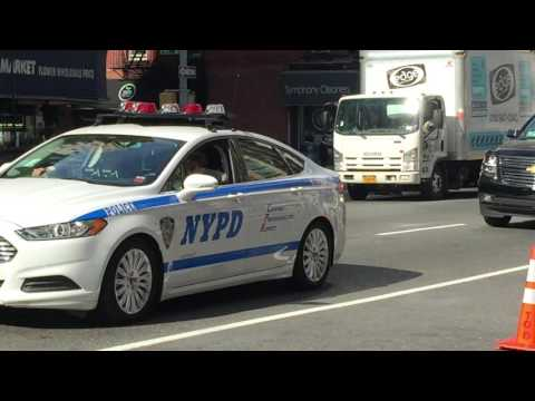 NYPD & UNITED STATES SECRET SERVICE ESCORTING DIPLOMATS DURING THE UNITED NATIONS GENERAL ASSEMBLY.