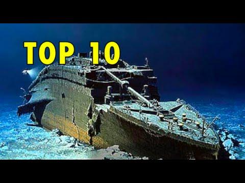Top 10 Famous Shipwrecks - Titanic, Britannic, Andrea Doria, Lusitania & more!