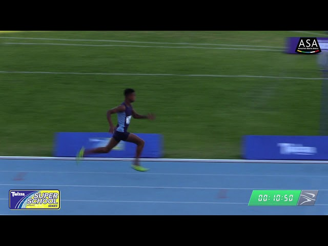 Final 1 Boys u16 100m - 2019 Twizza SuperSchoolSeries Greenpoint