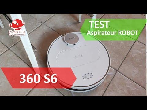 Test aspirateur Robot Laveur 360 S6, du haut de gamme
