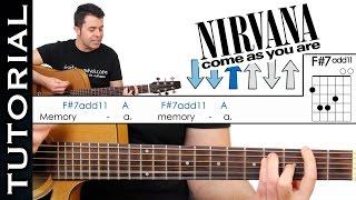 como tocar come as you are de nirvana en guitarra acstica completo