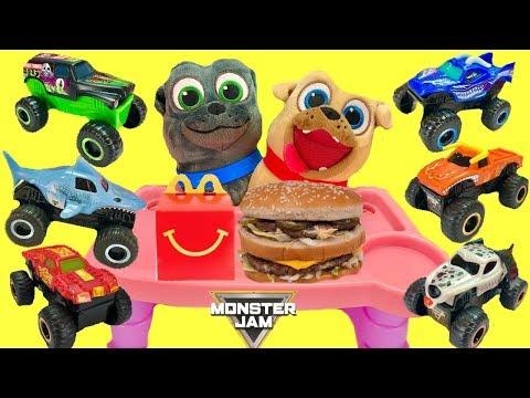 Puppy Dog Pals Get Monster Jam McDonald's Happy Meal TruckToys 2019