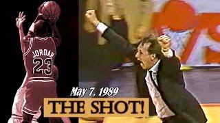 Michael Jordan - The Shot! Last 3 Minutes of Bulls vs Cavs Series in 1989 Playoffs!