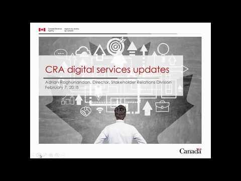 CRA Digital Services Updates