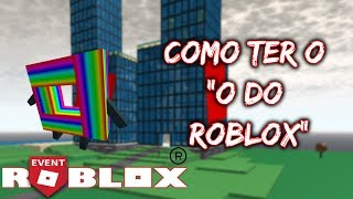 """JUST How to get the """"O from ROBLOX"""" 