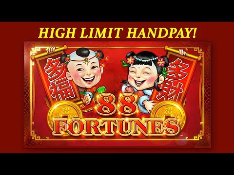 HIGH LIMIT HANDPAY! 💰 88 Fortunes 💰 The Slot Cats 🎰😺😸
