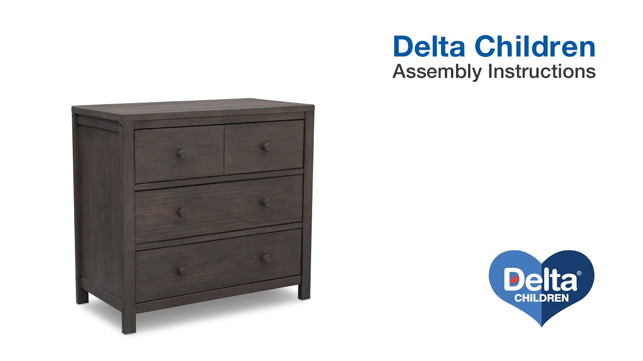 Delta Children Cambridge 3 Drawer Dresser Embly Video