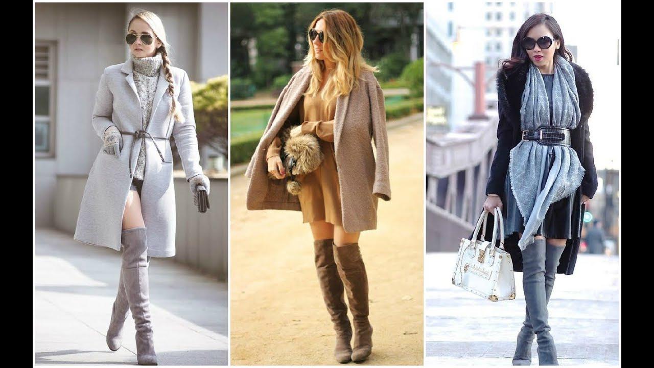 Botas Mujer U2665 OUTFITS DE INVIERNO #Botas #Outfits #Moda - YouTube