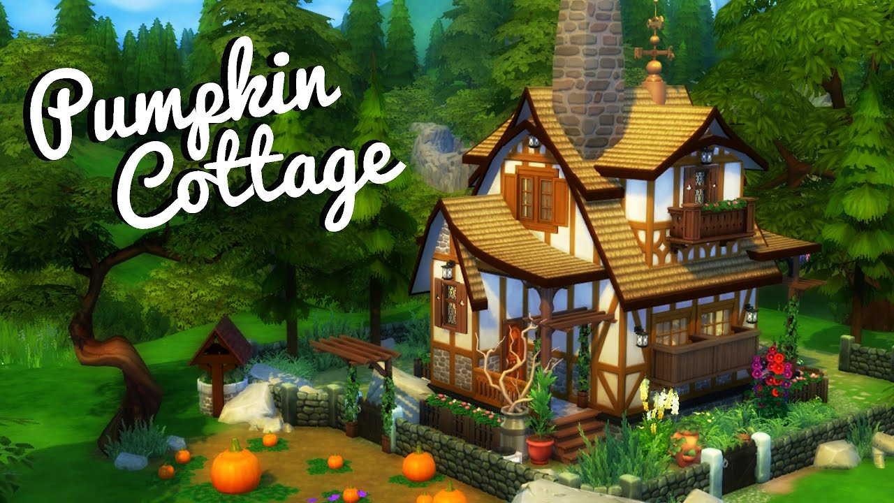 Pumpkin cottage sims 4 house build youtube for What is needed to build a house