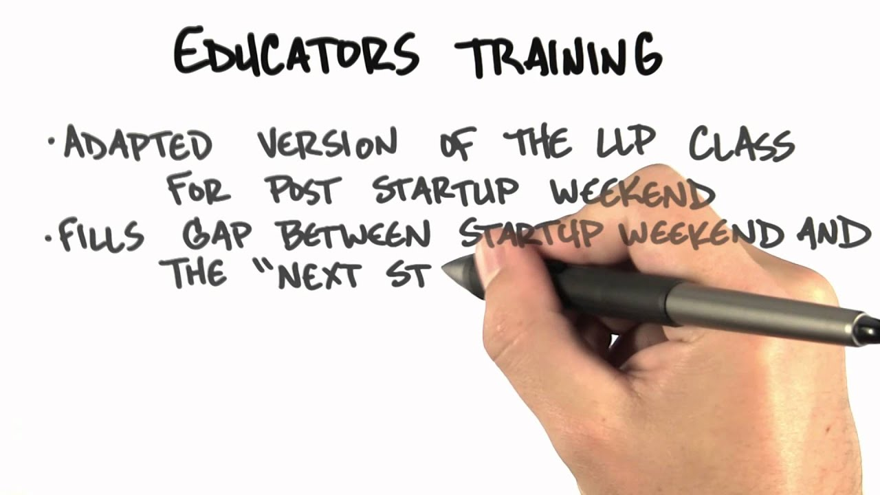 Educators Training - How to Build a Startup