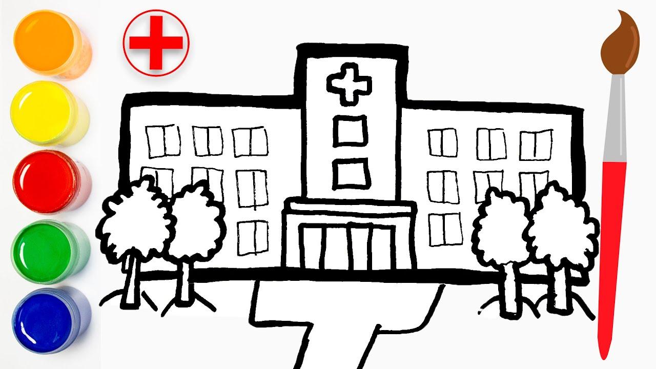 Cara Menggambar Dan Mewarnai Fasilitas Rumah Sakit Gambar Untuk Anak Anak Cat Color Youtube