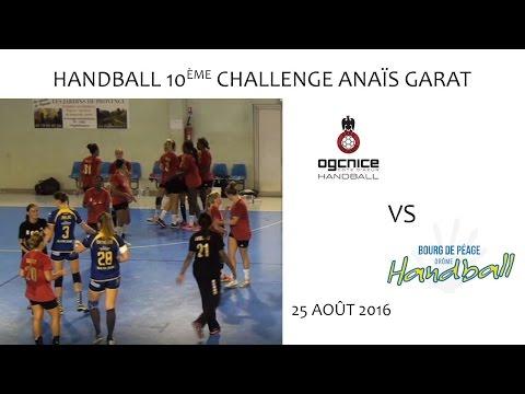 Handball - 10ème Challenge Anaïs Garat NICE vs Bourg de Péage