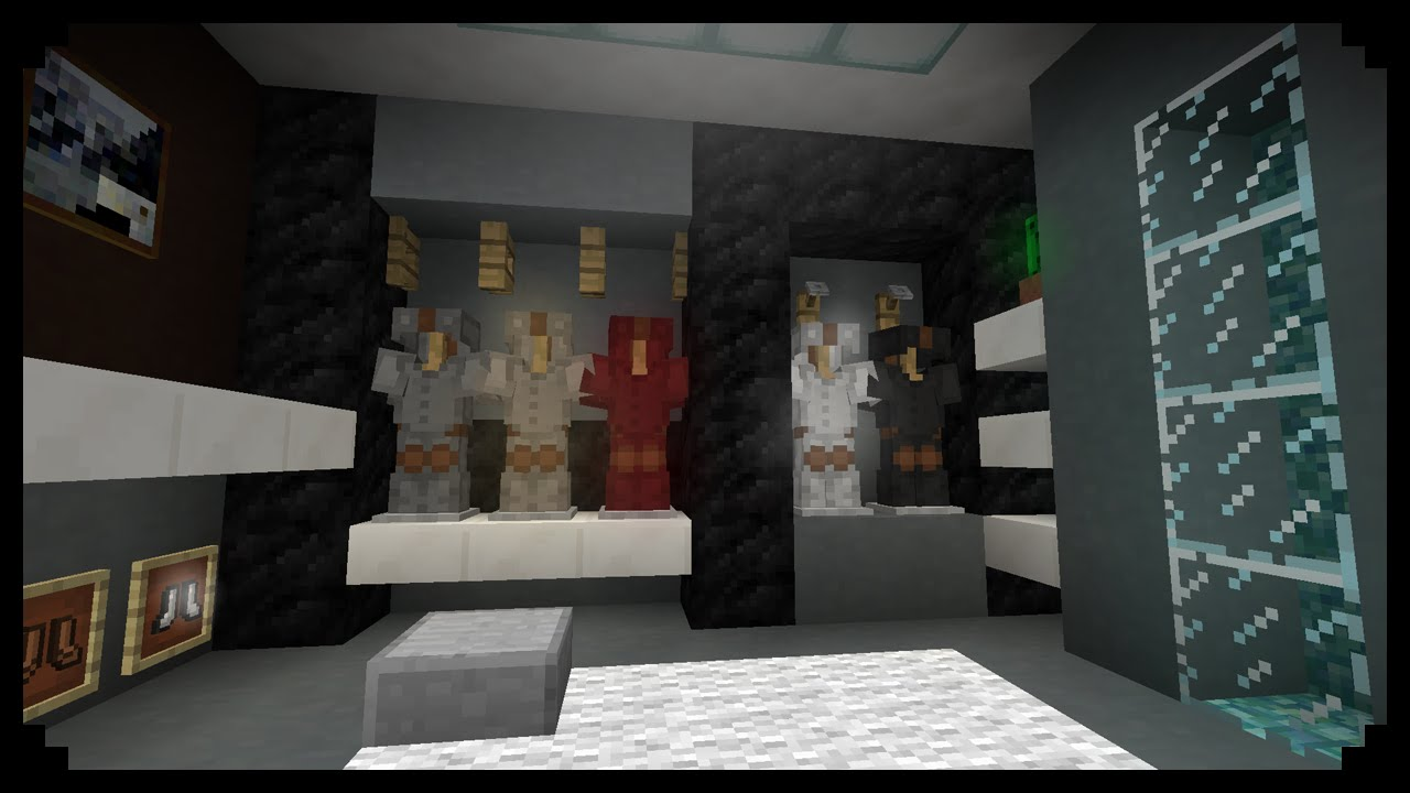 Minecraft How To Make A Walk In Closet Men S Edition