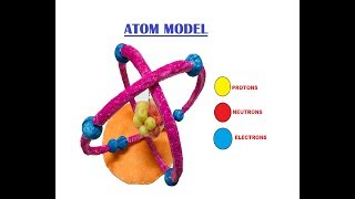 Atom Model - How to make an Oxygen Atom Model with Thermocol (School Project)| The4pillars