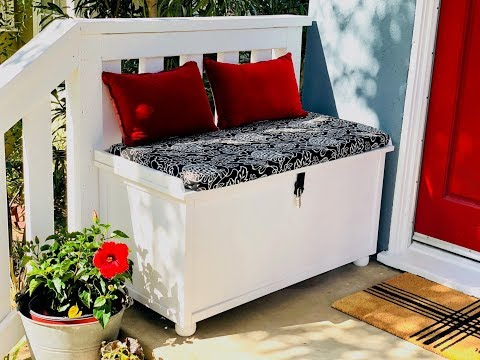 DIY a Porch Packages Lock Box Bench