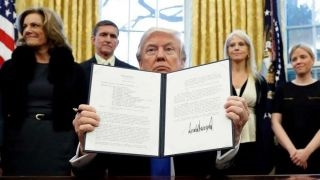 Responding to court's refusal to reinstate the travel ban