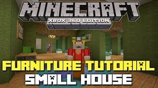 Minecraft Xbox 360: Furniture Inspiration and Ideas! (Small Suburban House)