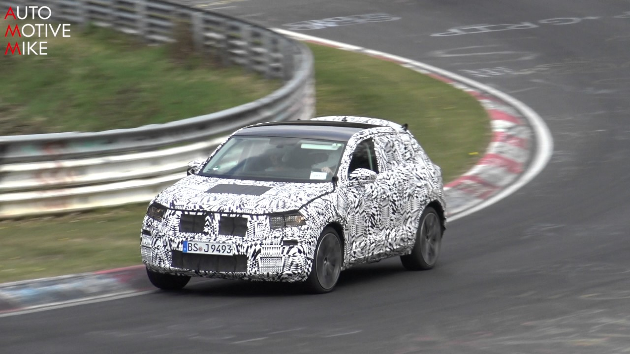2018 volkswagen polo suv t cross spied testing at n rburgring youtube. Black Bedroom Furniture Sets. Home Design Ideas