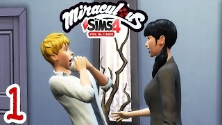 Adrien danadinho!!! 🐞 Miraculous VnC #01 - The Sims 4