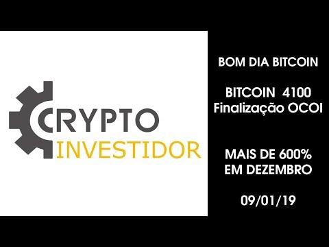 BOM DIA BITCOIN 09/01/2019 Bitcoin 4100 Plano vip mais 600%  EM DEZEMBRO, 9696% em 2018