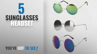 Top 10 Sunglasses Headset [2018]: Younky Uv Protected Combo Of 3 Round Men