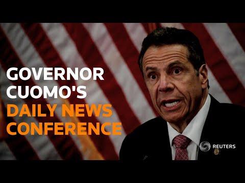 New York Governor Cuomo holds a coronavirus briefing