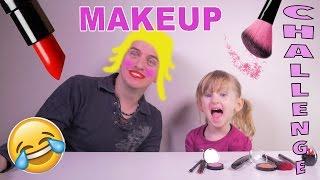 MAKEUP CHALLENGE ft. Athena • Athena maquille son papa !! :) - Studio Bubble Tea maquillage