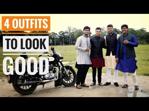 4 Outfits to LOOK GOOD with Bikes -ft Mensphere   Durga puja special  