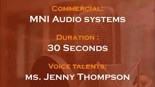 Jenny Thompson voice actor - MNI Audio systems commercial