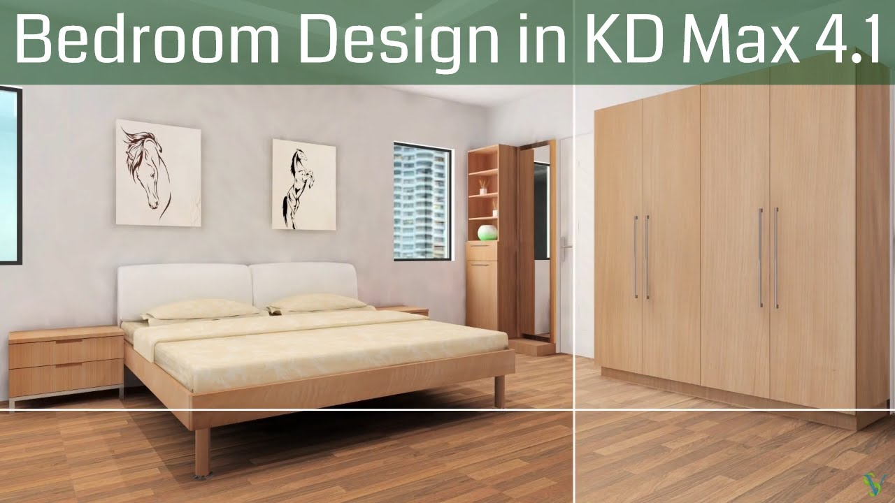 Kd Max 3d Kitchen Design Software Free Download Bedroom Realistic 3d Design In Kd Max Youtube