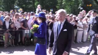 Kungen och Silvia besöker Sofiero slott