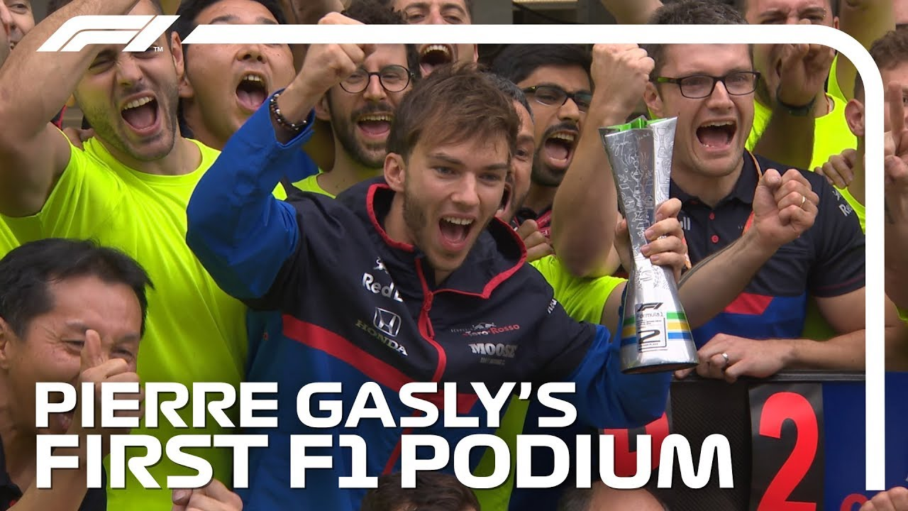 Pierre Gasly's First F1 Podium | 2019 Brazilian Grand Prix