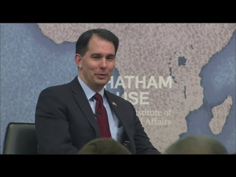 Walker refuses to answer question on evolution during London visit