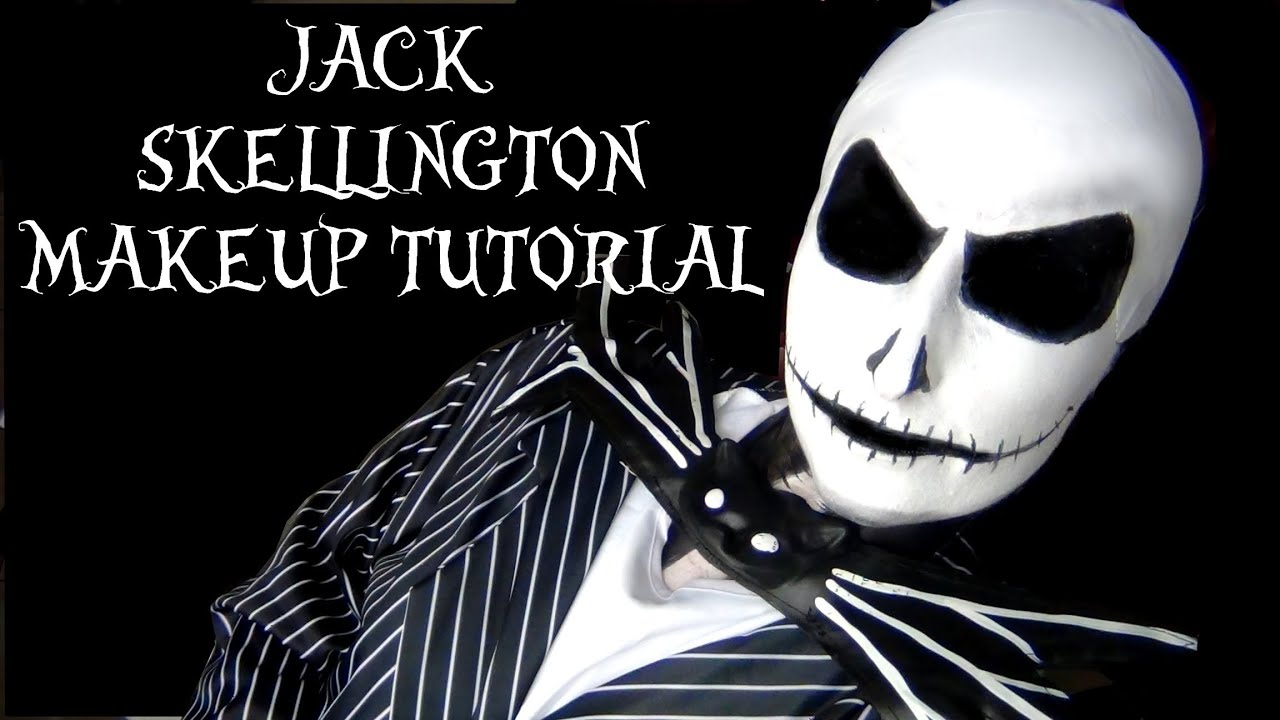 JACK SKELLINGTON MAKEUP TUTORIAL - THE NIGHTMARE BEFORE CHRISTMAS ...