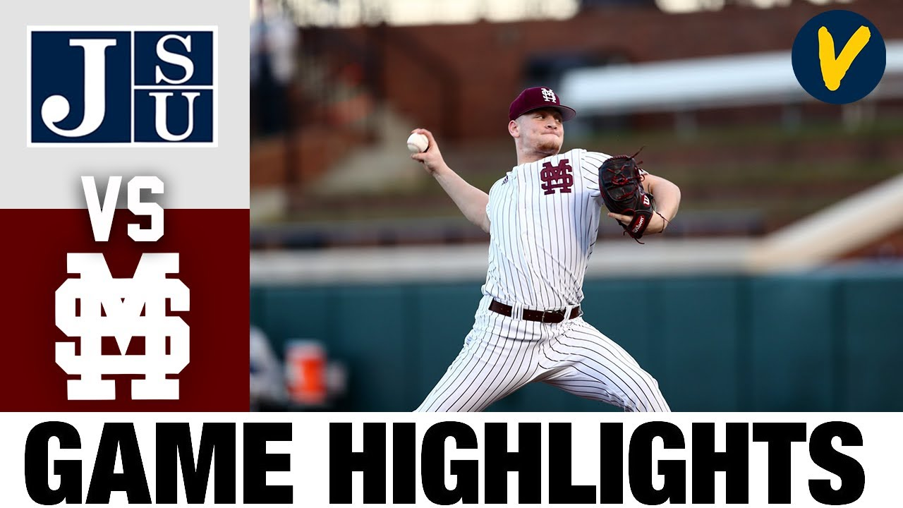 Jackson State vs #5 Mississippi State Highlights | 2.24.2020 | 2021 College Baseball Highlights