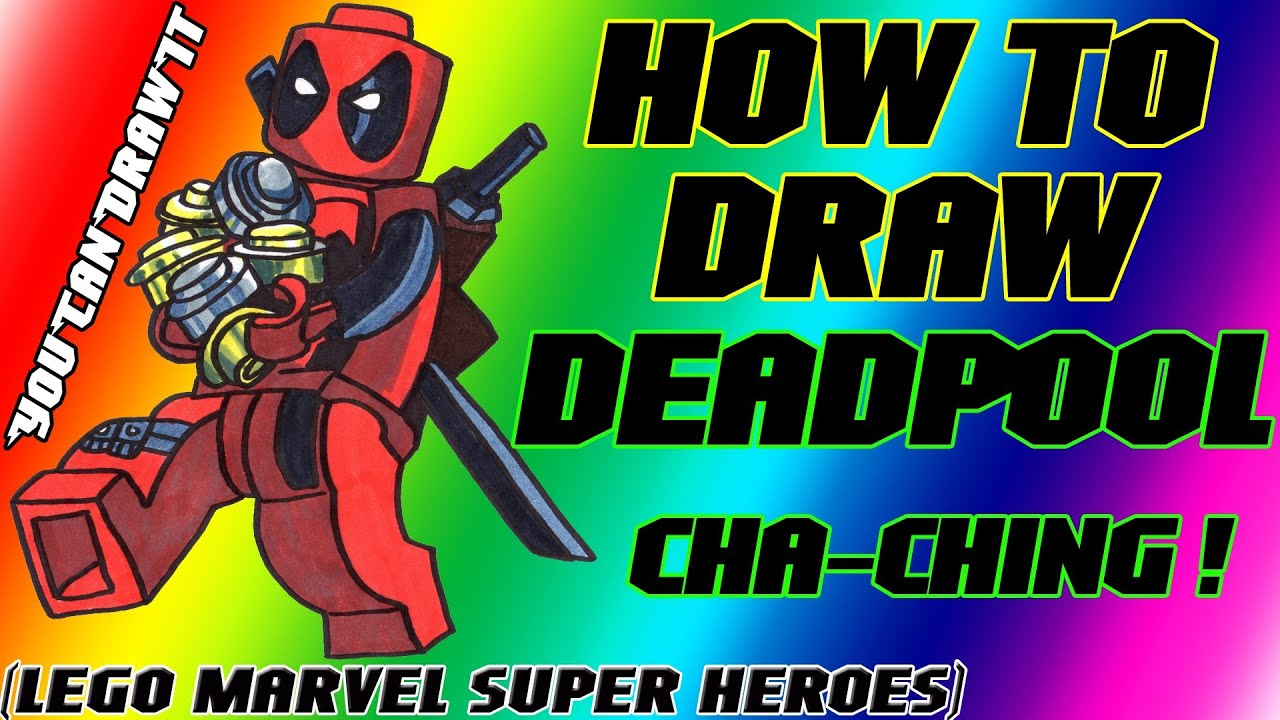 De deadpool drawing pages - How To Draw Deadpool From Lego Marvel Super Heroes Youcandrawit 1080p Hd Youtube