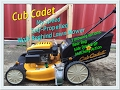 Cub Cadet my speed walk behind lawnmower set up and demo